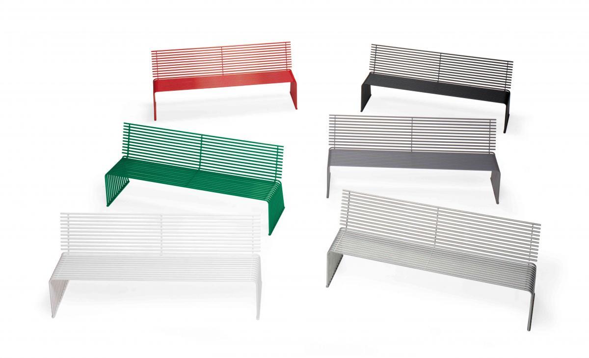 015 panca con schienale arredo urbano prodotti for Panca arredo