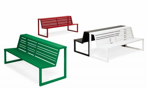 .h24 BENCH WITH DOUBLE SEAT