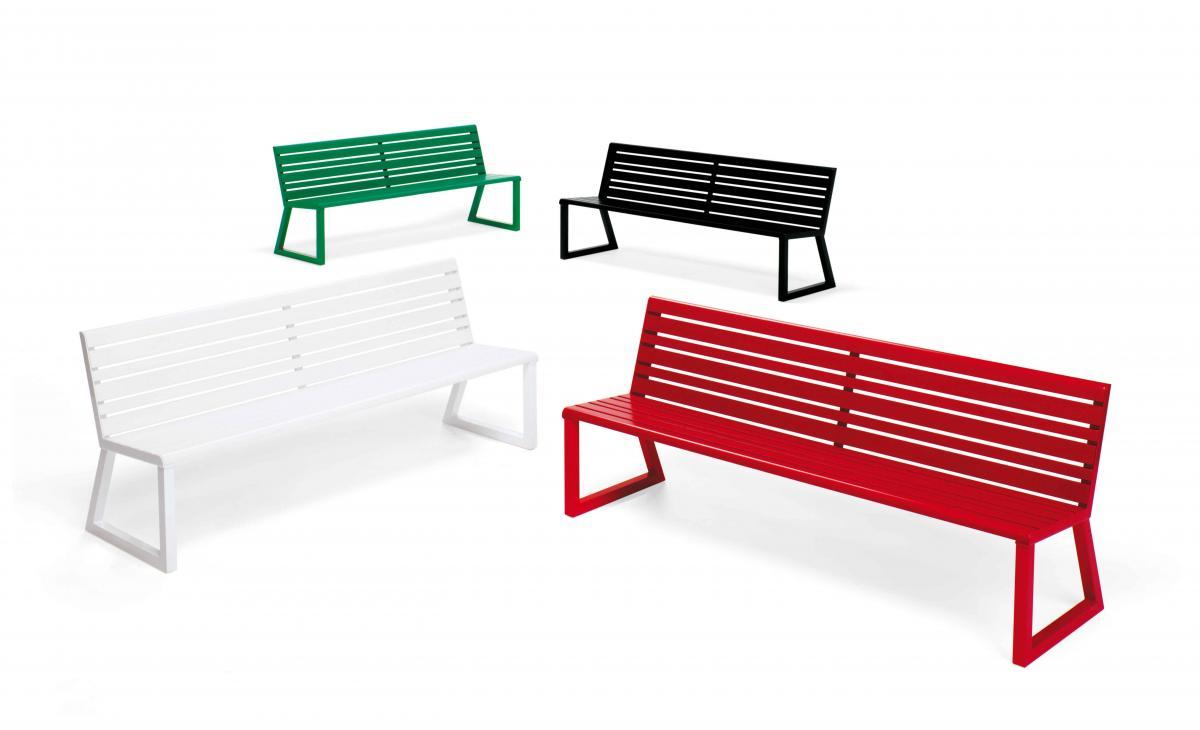 H24 panca con schienale arredo urbano prodotti for Panca arredo