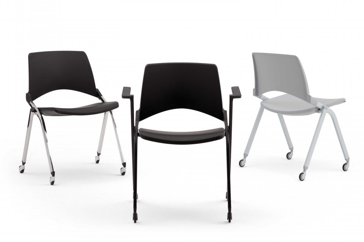 LakendÒ plastic sedia ruote bracciolo sedie con ruote sedute